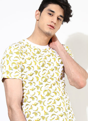 Organic Cotton T-Shirt with Banana Print