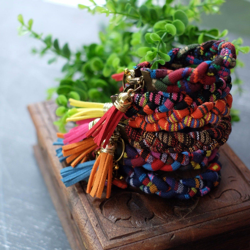 TENUN IKAT RAPUNZEL BRAIDED BRACELET by Kisaku - Jewel and Lotus