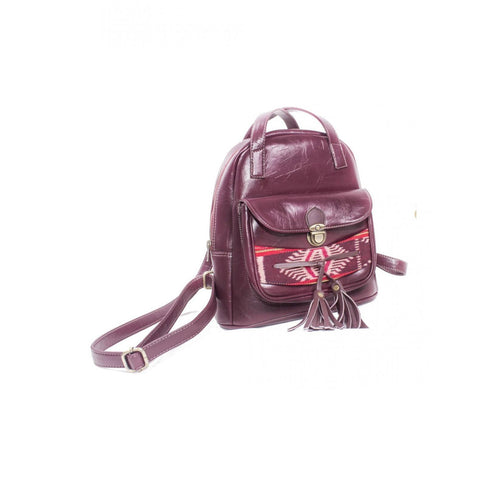 LAILA MAROON BACKPACK by Kisaku - Jewel and Lotus