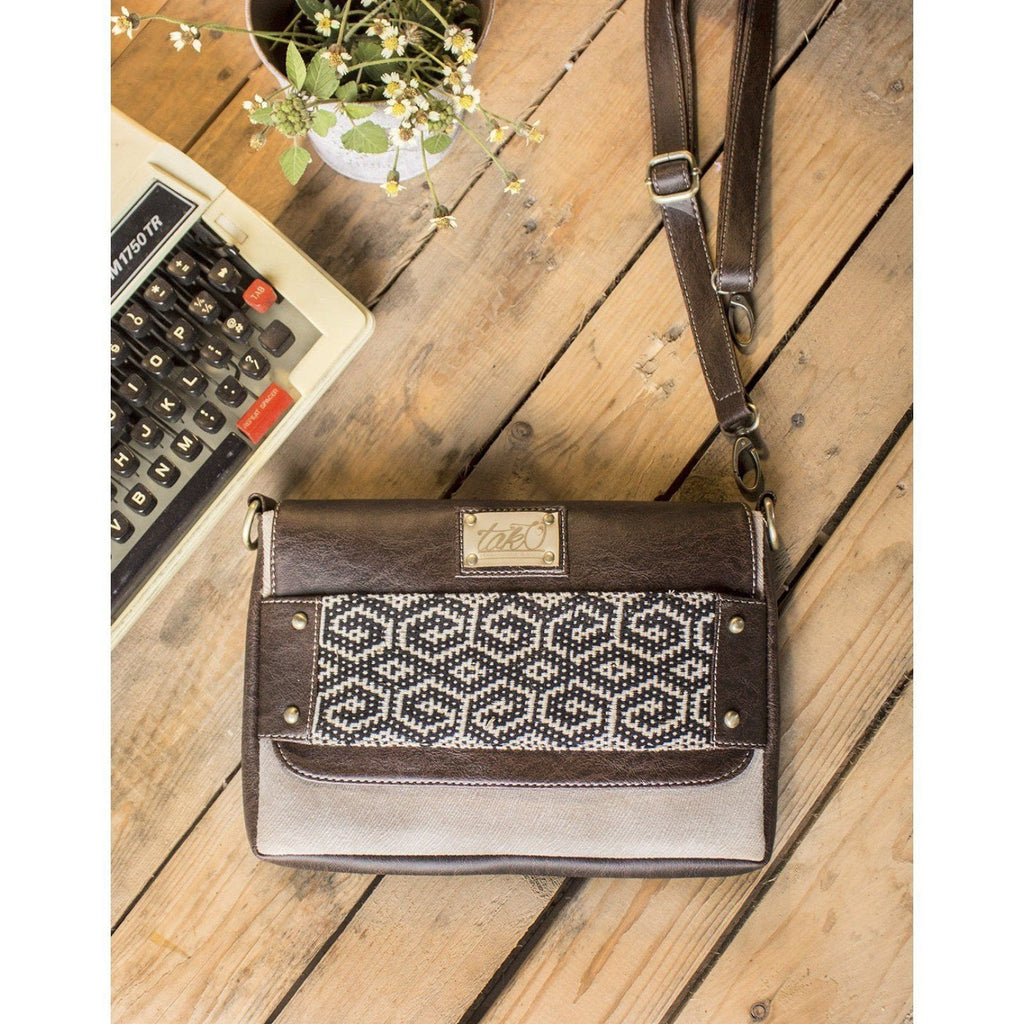 AMARATHA CROSSOVER BODY BAG BROWN by Kisaku - Jewel and Lotus