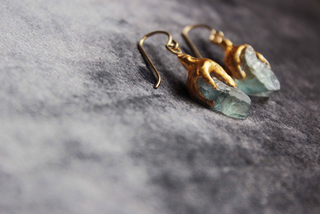 Fluorite Slice Earrings by Make Wilde - Jewel and Lotus