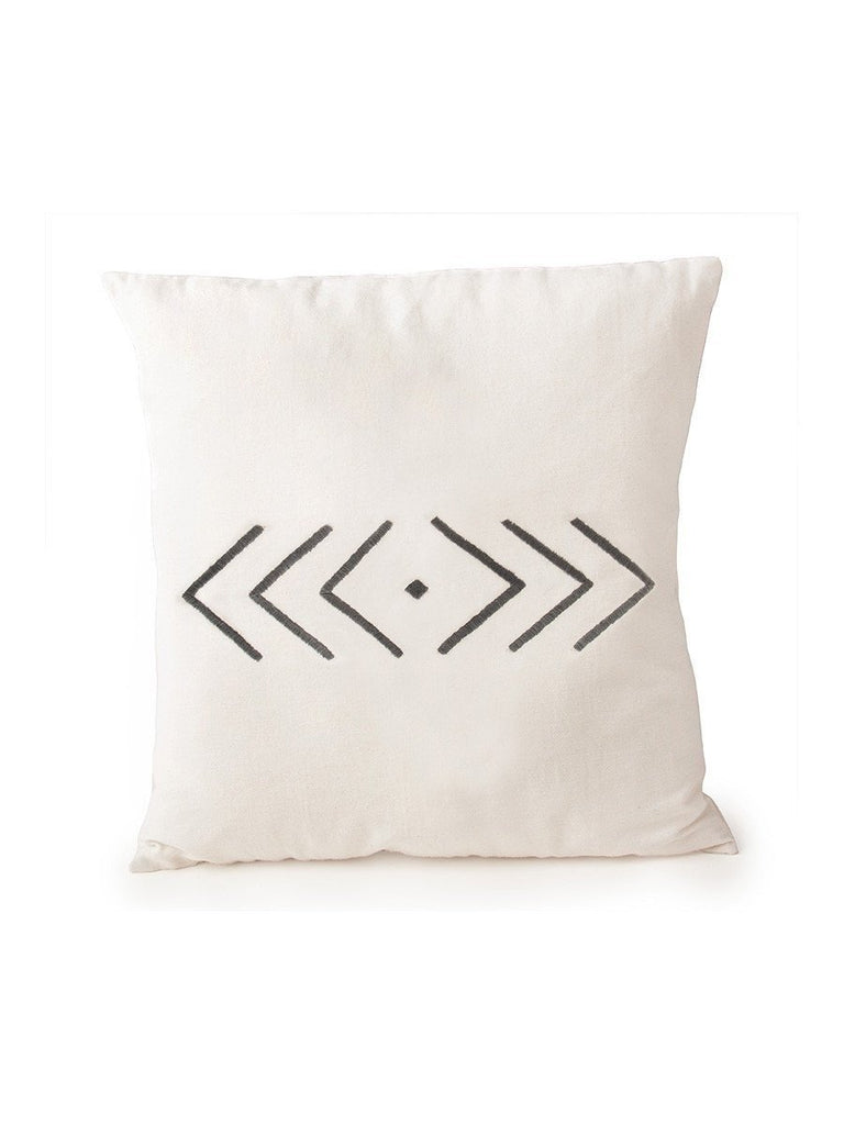 Hand Embroidered Geometric Pillow