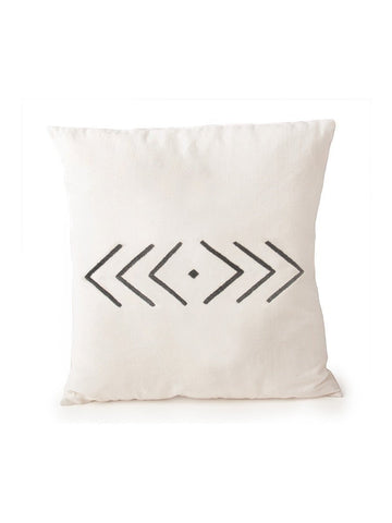 Hand Embroidered Geometric Pillow by Jimani Collections - Jewel and Lotus