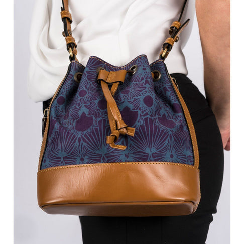 BLUE IVY BUCKET BAG by Kisaku - Jewel and Lotus