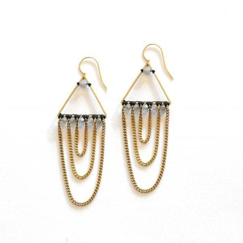 Urmella's Labradorite Earrings by The Didi Jewelry Project - Jewel and Lotus