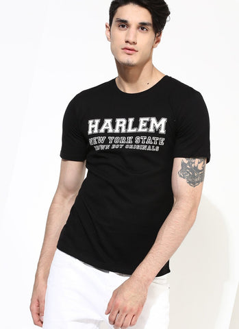Men's Jersey T-Shirt with Harlem Print