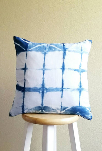 "Indigo Blue Pillow Cover 18"" x 18""