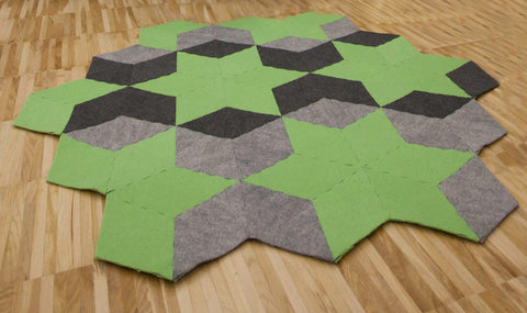 STARS handmade modular rug carpet with recycled materials, by caraWonga by CaraWonga - Jewel and Lotus