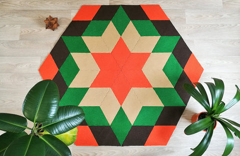 YO handmad modular rug carpet with recycled materials, DIY,  by caraWonga by CaraWonga - Jewel and Lotus