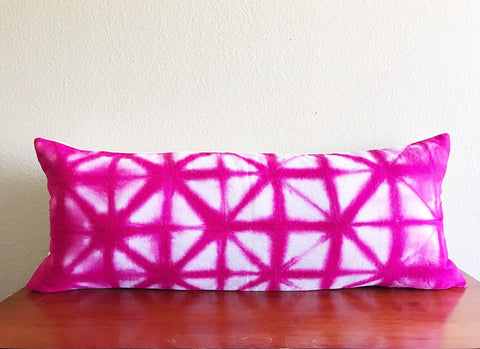 "Hot pink Lumbar Pillow 14"" x 36"", Lumbar Pillow cover, Boho Lumbar pillow, pink Bolster Cover, pink Boho Lumbar pillow, lumbar pillow 14x36"
