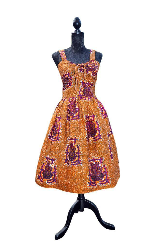 50's Inspired Dress by House of Afrika - Jewel and Lotus
