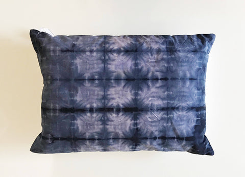 "Shibori purple Pillow Cover 14""x20""
