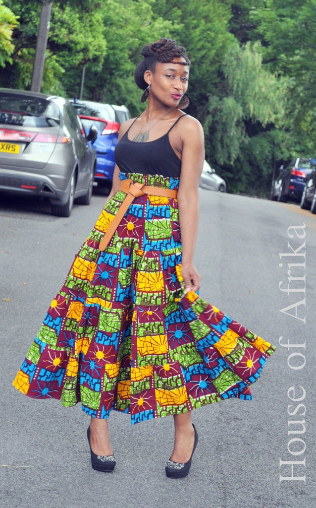 Afro Bohemian Skirt/Dress Combo by House of Afrika - Jewel and Lotus