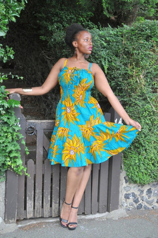 BENETI Short Dress by House of Afrika - Jewel and Lotus