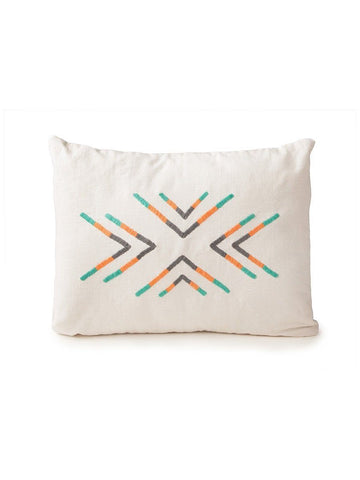 Hand Embroidered Arrow Pillow by Jimani Collections - Jewel and Lotus