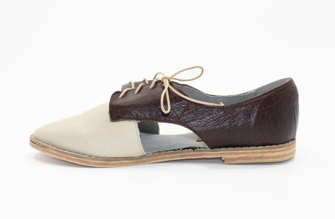 Benya Cut Out Oxford in Latte / Espresso by Matsidiso - Jewel and Lotus