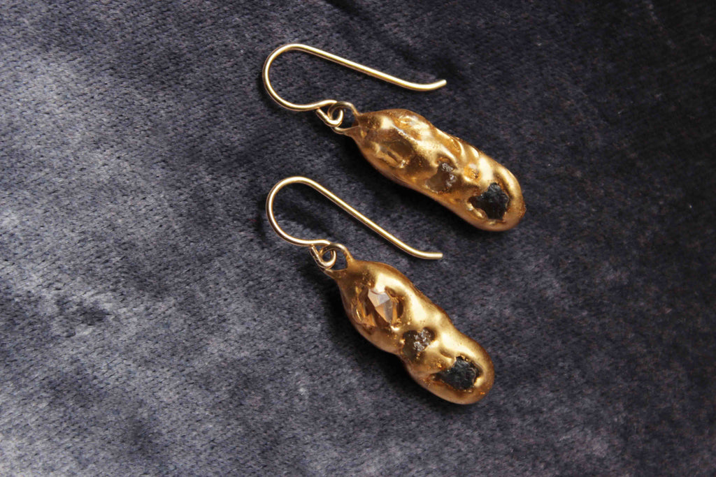 Sapphire Stepping Stone Earrings by Make Wilde - Jewel and Lotus