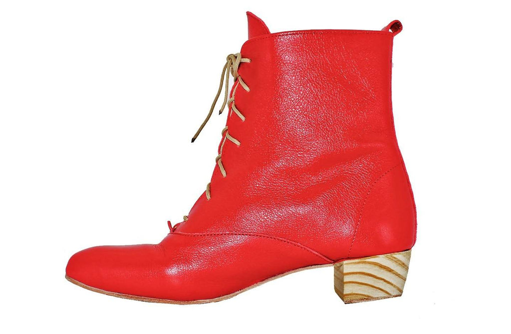 Anneke Boot In Cherry Red by Matsidiso - Jewel and Lotus
