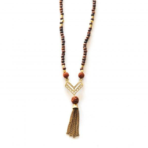 Bohemian Good Luck Seed Necklace by The Didi Jewelry Project - Jewel and Lotus