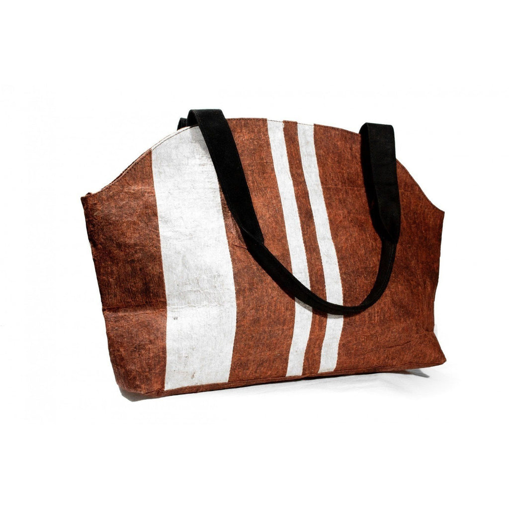 Eco Bark Wanderer Lust Tote by Kisaku - Jewel and Lotus