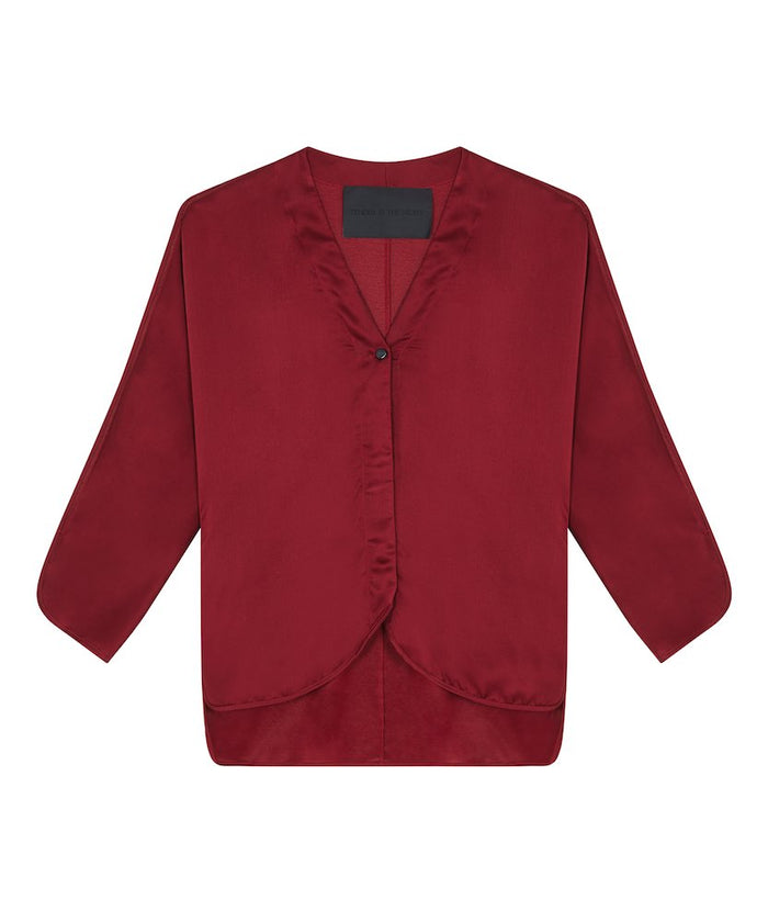 Topsy Pyjama Shirt - Red