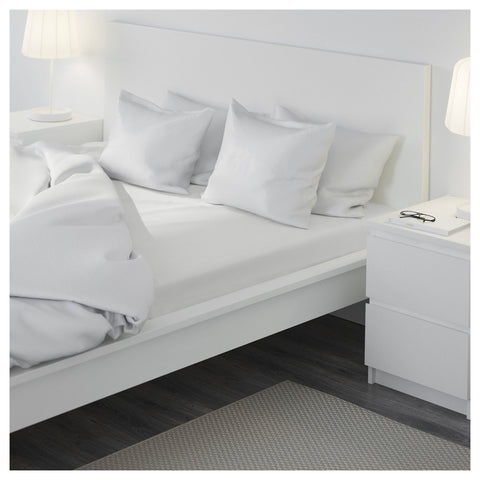 IKEA FÄRGMÅRA (Fargmara) White Fitted Bed Sheet (UK Super King   180x200cm)