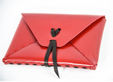 Sirahar Leather Ladies Clutch in three colors of Red, Black and Camel - La Perla Home in Montrose CA