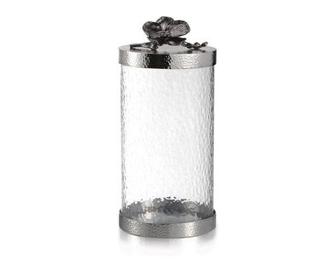 BLACK ORCHID CANISTER LARGE - La Perla Home in Montrose CA