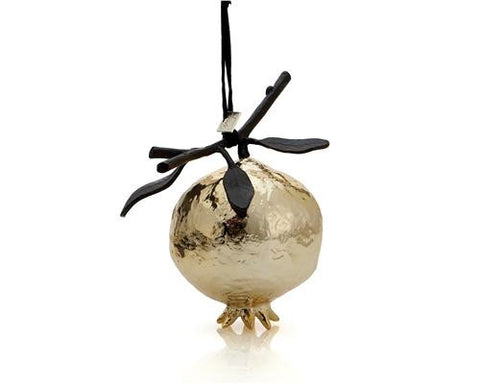 Pomegranate Ornament Gold - La Perla Home in Montrose CA