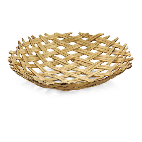 PALM CENTERPIECE SHALLOW BOWL - La Perla Home in Montrose CA