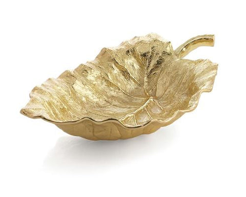 ELEPHANT EAR LRG SRVG BWL GOLD - La Perla Home in Montrose CA
