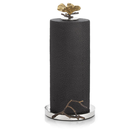 BUTTERFLY GINKGO PAPER TOWEL HOLDER - La Perla Home in Montrose CA