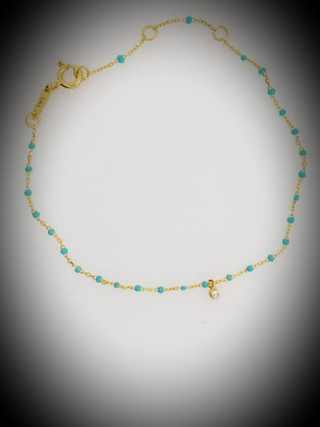 Blue Enamel Necklace - La Perla Home in Montrose CA