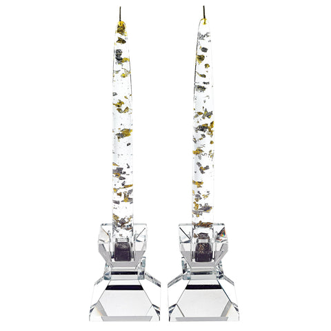 Silver & Gold Flake Artificial Candles