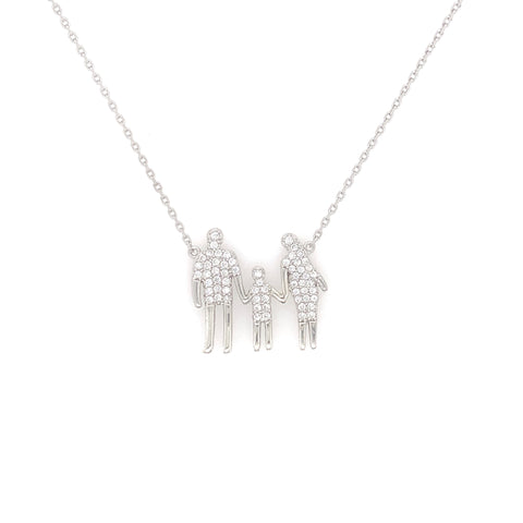 Family Necklace Silver