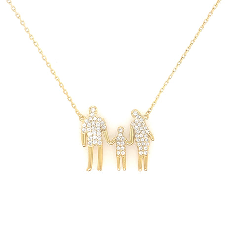 Family Necklace Gold Plated