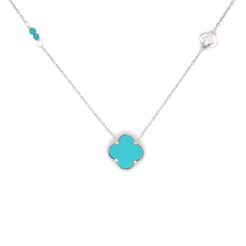 Clover Necklace Silver