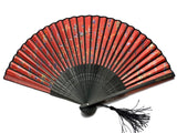 Armenian Alphabet Red Hand Fan