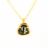 Armenian Initial Necklace in Silver and Gold plate - La Perla Home in Montrose CA