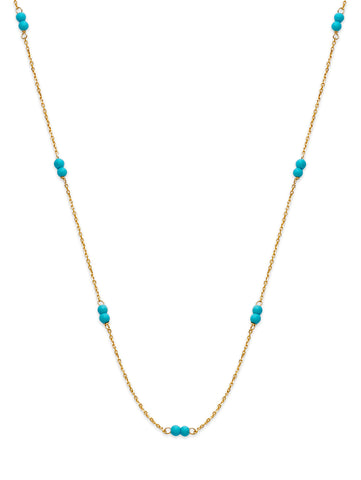 Turquoise Double Bead Necklace