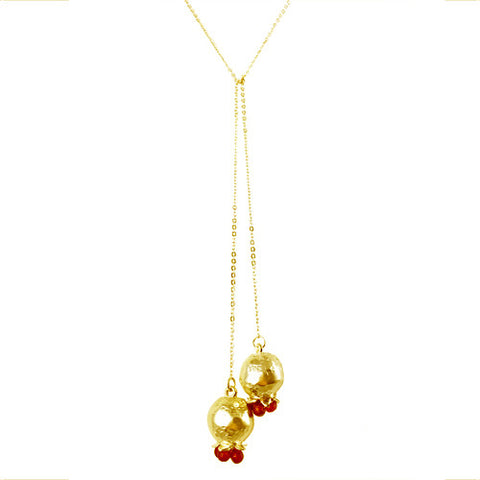 Armenian Double Pomegranate Necklace Wrap - La Perla Home in Montrose CA