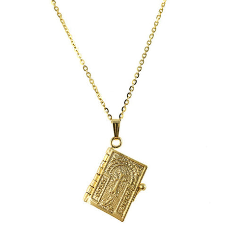 Armenian Lord's Prayer Silver Necklace in Yellow Gold - La Perla Home in Montrose CA
