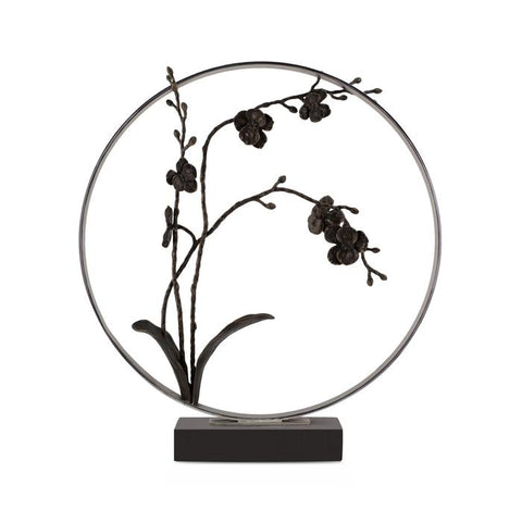 "Black Orchid 22"" Moon Gate Sculpture"
