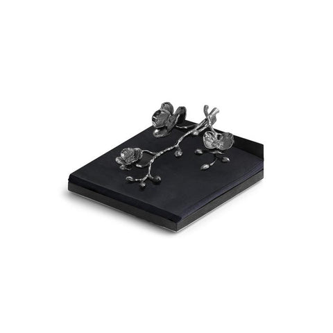 Black Orchid Dinner Napkin Holder