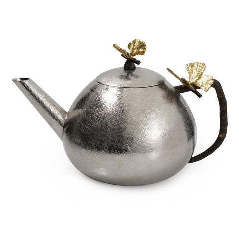 Butterfly Ginkgo Round Teapot