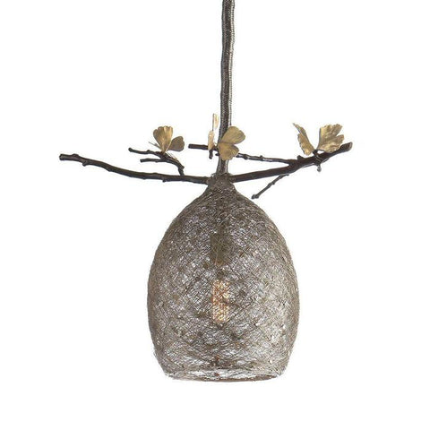 Butterfly Ginkgo Cocoon Pendant Lamp Small