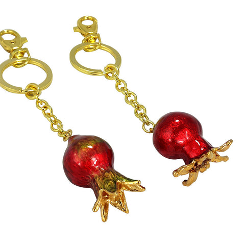 Pomegranate Keychain - La Perla Home in Montrose CA