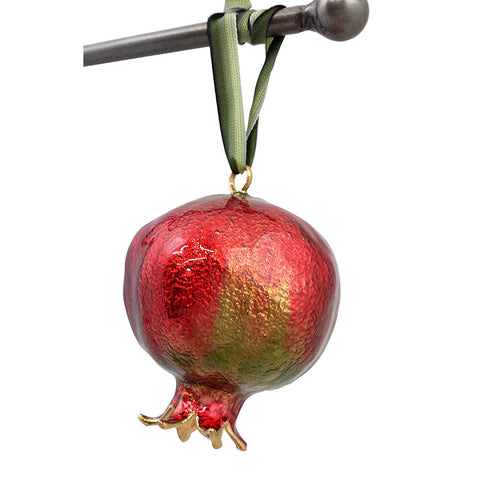 Real Pomegranate Ornament - La Perla Home in Montrose CA