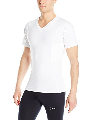 UnderTech Undercover Mens Concealment V-Neck Compression Shirt, White, Size Xlarge