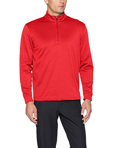 PGA TOUR Men's Elements Long Sleeve 1/4 Zip Pullover Jacket, Tango Red_PVKF70G1, XL